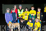 Ciara O'Sullivan, Bronagh Dorrian, Shay O'Meara. Back row: Saoirse Dorrian, Shane O'Sullivan, Julie Dorrian, Geraldine O'Sullivan Niamh, Ruairi and Hugh Dorrian  Killarney at the Darkness into Light walk at Killarney Racecourse Saturday morning
