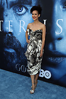 "LOS ANGELES, CA July 12- Nathalie Emmanuel,  At Premiere Of HBO's ""Game Of Thrones"" Season 7 at The Walt Disney Concert Hall, California on July 12, 2017. Credit: Faye Sadou/MediaPunch"