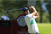 Nacho Elvira (ESP) tees off the 6th tee during Sunday's Final Round 4 of the 2018 Omega European Masters, held at the Golf Club Crans-Sur-Sierre, Crans Montana, Switzerland. 9th September 2018.<br /> Picture: Eoin Clarke | Golffile<br /> <br /> <br /> All photos usage must carry mandatory copyright credit (© Golffile | Eoin Clarke)