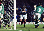 RANGERS V HIBERNIAN, ALLY MCCOIST CELEBRATES BREAKING THE SCORING RECORD, ROB CASEY PHOTOGRAPHY.