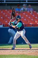 Lynchburg Hillcats right fielder Jodd Carter (7) at bat during the first game of a doubleheader against the Frederick Keys on June 12, 2018 at Nymeo Field at Harry Grove Stadium in Frederick, Maryland.  Frederick defeated Lynchburg 2-1.  (Mike Janes/Four Seam Images)