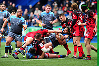 Nick Williams of Cardiff Blues in action during the Heineken Champions Cup Round 6 match between the Cardiff Blues v Lyon Olympique Universitaire  at Cardiff Arms Park in Cardiff, Wales, UK. Saturday 19th January 2019