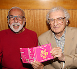 Joe Masteroff and Sheldon Harnick attends the CD release signing for the Broadway revival of 'She Loves Me' at Barnes and Noble 86th street on August 3, 2016 in New York City.