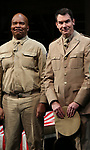"""David Alan Grier and Jerry O'Connell During the Broadway Opening Night Curtain Call Bows for The Roundabout Theatre Company's """"A Soldier's Play""""  at the American Airlines Theatre on January 21, 2020 in New York City."""