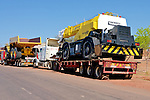 Trucks Near Border Crossing To Zimbabwe
