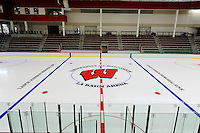 The fresh ice has just been laid at the University of Wisconsin's new LaBahn Arena, pictured here on Monday, 10/1/12, in Madison, Wisconsin