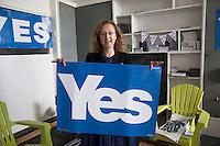 L'artista Moira Dalgetty strenua sostenitrice del si al referendum per l'indipendenza scozzese
