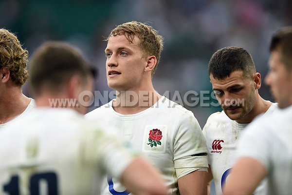 Mike Haley of England looks on. Old Mutual Wealth Cup International match between England and the Barbarians on May 28, 2017 at Twickenham Stadium in London, England. Photo by: Patrick Khachfe / Onside Images