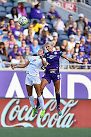 Orlando, FL - Saturday Sept. 24, 2016: Shea Groom, Kaylyn Kyle during a regular season National Women's Soccer League (NWSL) match between the Orlando Pride and FC Kansas City at Camping World Stadium.