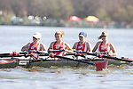 MADISON, WI - APRIL 15: The Wisconsin Badgers women's crew team played host to the 2006 Big Ten Double Dual with Michigan State, Michigan and Iowa on April 15, 2006 on Lake Wingra at Vilas Park in Madison, Wisconsin. (Photo by David Stluka)