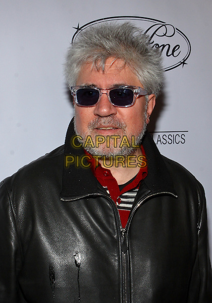 PEDRO ALMODOVAR.Parmigiani Watches & Raffone Luggage Sony Pictures Classics Oscar Party  held at II Cielo Restaurant, Beverly Hills, California, USA..March 6th, 2010.headshot portrait black leather beard facial hair sunglasses shades .CAP/ADM/TC.©T. Conrad/AdMedia/Capital Pictures.