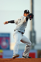 April 28 2009: Madison Bumgarner of the San Jose Giants pitches against the Lancaster JetHawks at Clear Channel Stadium in Lancaster,CA.  Photo by Larry Goren/Four Seam Images