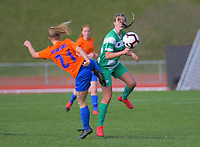 Action from the Women's Central League Football match between Wellington United and Palmerston North Marist at Newtown Park in Wellington, New Zealand on Saturday, 4 July 2020. Photo: Dave Lintott / lintottphoto.co.nz