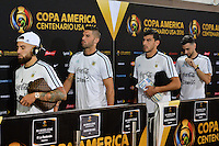 East Rutherford, NJ - Sunday June 26, 2016: Argentina arriving prior to a Copa America Centenario finals match between Argentina (ARG) and Chile (CHI) at MetLife Stadium.