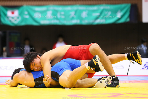Sosuke Takatani (JPN), JUNE 15, 2013 - Wrestling : All Japan Invitational Wrestling Championship, Men's Free Style -74kg Final at Yoyogi 2nd Gymnasium, Tokyo, Japan. (Photo by AFLO SPORT) [1156]