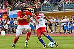 31.07.2017, Silberstadt Arena, Schwaz, AUT, FSP, Hamburger SV vs Antalyaspor, im Bild Salih Dursun (Antalyaspor #24), Douglas Santos (Hamburg #8)<br /> <br /> Foto &copy; nordphoto / Hafner
