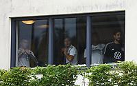 Marco Reus (Deutschland, Germany)  im Fitnessraum mit Jonas Hector, Serge Gnabry, Torwart Kevin Trapp (Deutschland Germany)  - 03.06.2019: Trainingslager der Deutschen Nationalmannschaft zur EM-Qualifikation in Venlo/NL