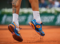 Paris, France, 23 june, 2016, Tennis, Roland Garros, Lukas Rosol (CZE)<br /> Photo: Henk Koster/tennisimages.com