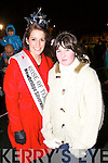 Rose of Tralee Nicola McEvoy and Megan Canty Listowel,watching the Fireworks display at the Aquadome in Tralee on New Years Eve.