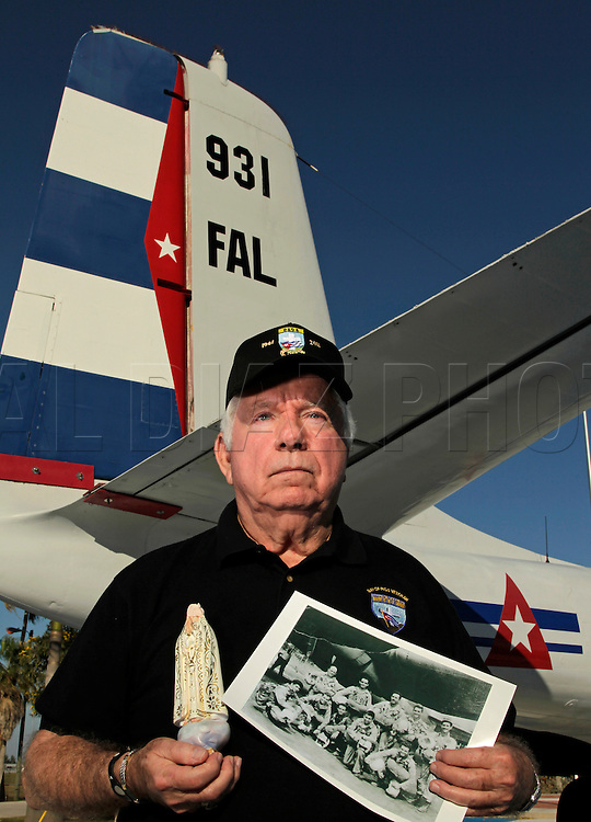 Julio Rebull was a gunner on a a B-26 bomber during the Bay of Pigs invasion like the one seen here at Kendall-Tamiami Executive Airport on March 11, 2011. He is a member of the Bay of Pigs Veterans Association, Brigade 2506.