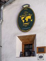 Whisky Bar, Santa Maria, Val Müstair-Münstertal, Engadin, Graubünden, Schweiz, Europa<br /> Whisky Bar in Santa Maria, Val Müstair-Münster Valley, Engadine, Grisons, Switzerland