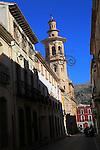 Historic church tower in village of Xalo or Jalon, Marina Alta, Alicante province, Spain