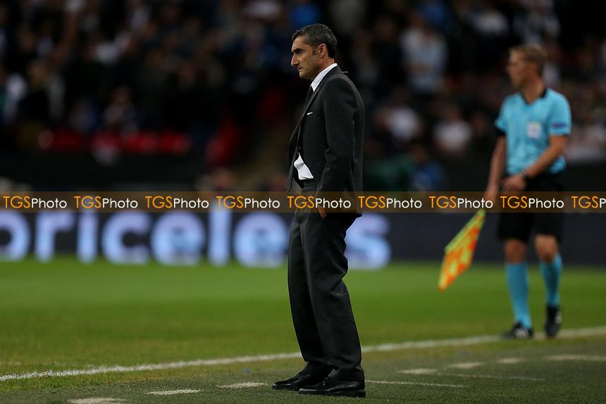 FC Barcelona manager Ernesto Valverde during Tottenham Hotspur vs FC Barcelona, UEFA Champions League Football at Wembley Stadium on 3rd October 2018
