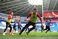 James Lawrence of Wales during the Wales Training Session at the Cardiff City Stadium in Cardiff, Wales, UK. Thursday 15 November 2018