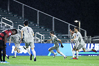 CARY, NC - DECEMBER 13: Sean Zawadzki #6 of Georgetown University celebrates scoring a goal during a game between Stanford and Georgetown at Sahlen's Stadium at WakeMed Soccer Park on December 13, 2019 in Cary, North Carolina.