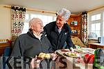 James Hussey Meals on Wheels visiting Denis Leen in Kilduff on Wednesday.