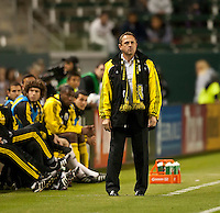 CARSON, CA – APRIL 9, 2011: Columbus Crew head coach Robert Warzycha during the match between Chivas USA and Columbus Crew at the Home Depot Center, April 9, 2011 in Carson, California. Final score Chivas USA 0, Columbus Crew 0.