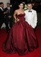 "NEW YORK CITY, NY, USA - MAY 05: Sarah Silverman, Michael Sheen at the ""Charles James: Beyond Fashion"" Costume Institute Gala held at the Metropolitan Museum of Art on May 5, 2014 in New York City, New York, United States. (Photo by Xavier Collin/Celebrity Monitor)"