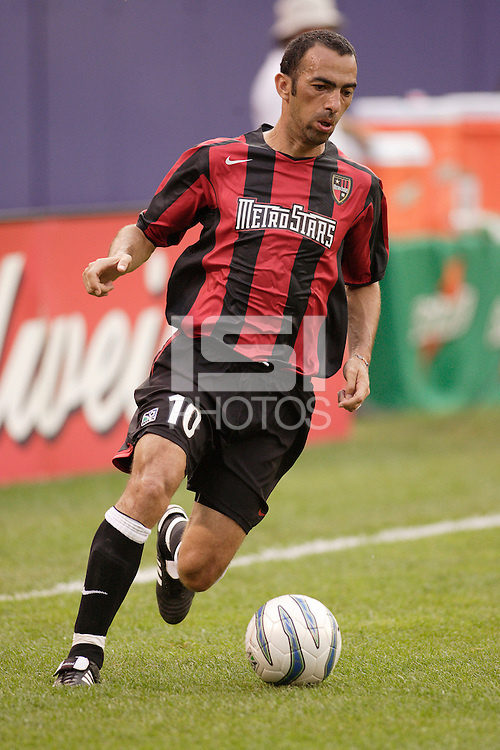 The MetroStars' Youri Djorkaeff. The MetroStars played D.C United to a 0 -0 tie at Giant's Stadium, East Rutherford, NJ, on June 12, 2005.