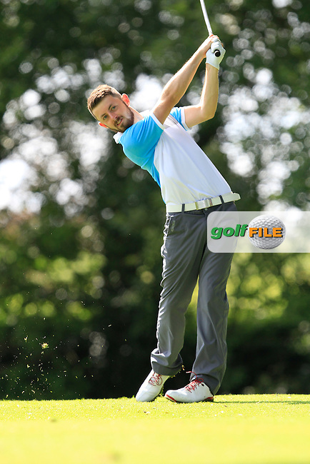 Liam Grehan (Mullingar) on the 8th tee during round 2 of The Mullingar Electrical Scratch Trophy in Mullingar Golf Club on Monday 4th August 2014.<br /> Picture:  Thos Caffrey / www.golffile.ie