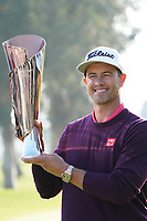 Adam Scott (AUS) at the prize presentation after the final round of the The Genesis Invitational, Riviera Country Club, Pacific Palisades, Los Angeles, USA. 16/02/2020<br /> Picture: Golffile | Phil Inglis<br /> <br /> <br /> All photo usage must carry mandatory copyright credit (© Golffile | Phil Inglis)