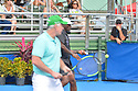 DELRAY BEACH, FL - NOVEMBER 24: Patrick McEnroe and Seal attend the 30TH Annual Chris Evert Pro-Celebrity Tennis Classic Day3 at the Delray Beach Tennis Center on November 24, 2019 in Delray Beach, Florida.  ( Photo by Johnny Louis / jlnphotography.com )