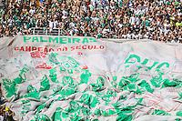 SAO PAULO, SP, 26.10.2013 - CAMP.  BRASILEIRO B - PALMEIRAS X SAO CAETANO - Torcida aguarda o início da partida entre as equipes do São Caetano e do Palmeiras, válida pela 32ª rodada da série B, do Campeonato Brasileiro 2013, realizada no Estádio do Pacaembu, na zona oeste da capital paulista, neste sábado. (Foto: William Volcov / Brazil Photo Press).