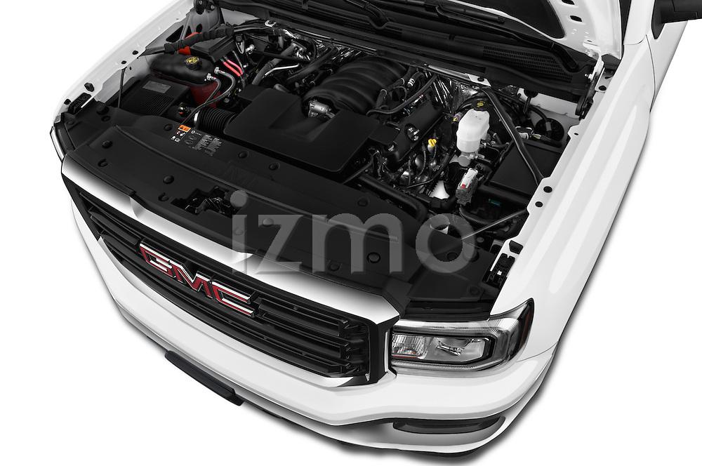 Car Stock 2016 GMC Sierra-1500 2WD-Regular-Cab-Long-Box 2 Door Pick-up Engine  high angle detail view