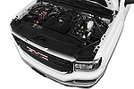 Car Stock 2016 GMC Sierra-1500 2WD-Regular-Cab-Long-Box 2 Door Pick-up Engine  high angle detail view