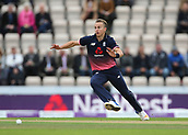 29th September 2017, Ageas Bowl, Southampton, England; One Day International Series, England versus West Indies; Tom Curran of England attempts to stop a run during his over