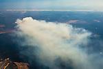 Smoke cloud wafting over the Florida coast