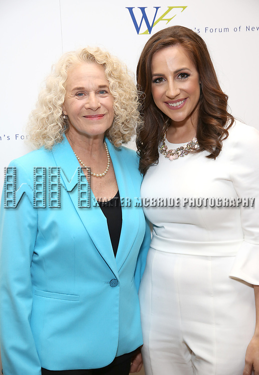 Carole King and Teresa Priolo attends The 7th Annual Elly Awards at The Plaza Hotel on June 19, 2017 in New York City.