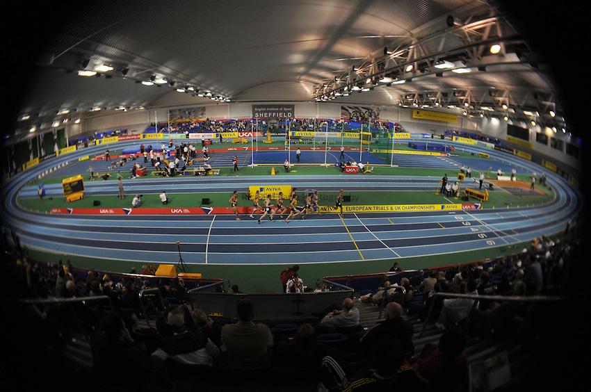 Photo: Tony Oudot/Richard Lane Photography..Aviva European Trials & UK Championships athletics. 14/02/2009. .Runners compete in the European trials and UK Championships.