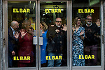 "Terele Pavez, Carmen Machi, Alex de la Iglesia and Blanca Suarez attends the junket of the film ""El bar"" at bar Palentino in Madrid, Spain. March 22, 2017. (ALTERPHOTOS / Rodrigo Jimenez)"