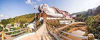 Win Sein Taw Ya 180m Reclining Buddha, the largest Buddha Image in the world, Mudon, Mawlamyine, Mon State, Myanmar (Burma)