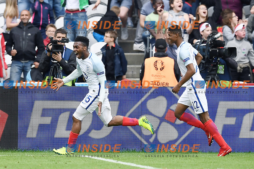 esultanza gol Daniel Sturridge England Goal celebration  <br /> Lens 16-06-2016 Stade Bollaert-Delelis Footballl Euro2016 England - Wales / Inghilterra - Galles Group Stage Group B. Foto Matteo Gribaudi / Image Sport / Insidefoto