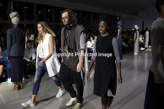 JOHANNESBURG, SOUTH AFRICA - MARCH 11: Designer label Mille Collines during a show at Johannesburg Fashion Week week on March 11, 2016, at Nelson Mandela Square Johannesburg, South Africa. (Photo by: Per-Anders Pettersson)