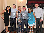 Annmarie Cudden celebrating her 50th birthday in the Westcourt hotel with partner Keith Wallace, sons Brian and Warren and their partners Mary Healy and Aoife Duggan. Photo:Colin Bell/pressphotos.ie