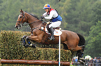 Blair Atholl, Scotland, UK. 12th September, 2015. Longines  FEI European Eventing Championships 2015, Blair Castle. Theo Van de Vendel (NED) riding Zindane during the Cross country phase © Julie Priestley
