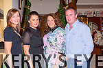 Elaine Coffey Laura Wickham, Aoife Cronin and Denis Coffey Killarney celebrating New Years Eve in Killarney at the Royal Hotel